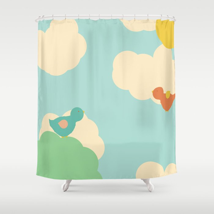 Birds in the Sky Shower Curtain
