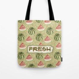 Fresh Vegan Abstract Watercolor Watermelon Tote Bag