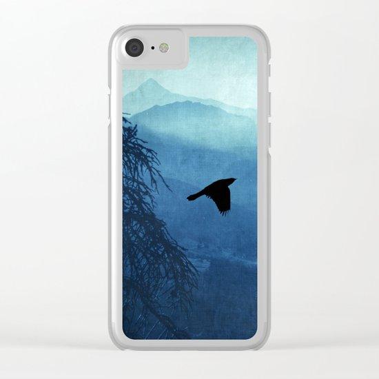 Blue Mountain Haze Clear iPhone Case