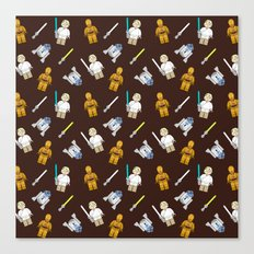R2D2+3CPO+Luke in Brown Canvas Print