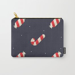 Red Christmas Peppermint Pattern Carry-All Pouch