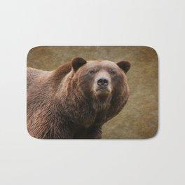 Brown Bear Stare Bath Mat