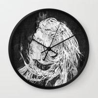 ellie goulding Wall Clocks featuring Ellie by Misha Libertee