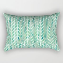 Caribbean green watercolor pattern Rectangular Pillow