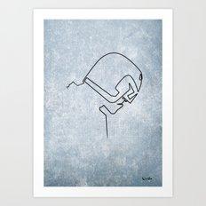 One line Dredd Art Print