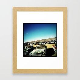 Car Lot, Kingman AZ Framed Art Print