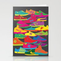 sneakers Stationery Cards featuring Sneakers by Glen Gould