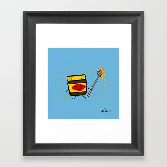 Vegemite Honey Framed Art Print