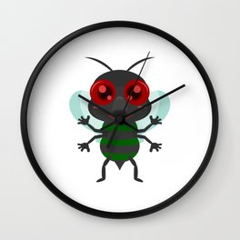 Fly Mosquito Insect Wall Clock