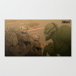 Fallout 4 Poster Series | Brotherhood V.S. Super Mutants Canvas Print