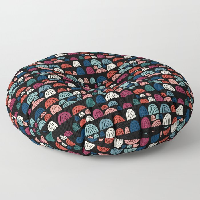 stone rainbows 002 Floor Pillow