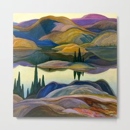 Franklin Carmichael - Mirror Lake - Canada, Canadian Watercolor Painting - Group of Seven Metal Print
