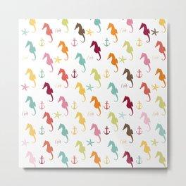 AFE Colorful Seahorse Pattern Metal Print