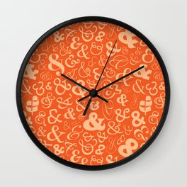 Ampersands - Orange Wall Clock