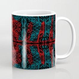 Demon Skin Red Teal Coffee Mug