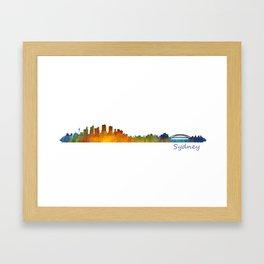 Sydney City Skyline Hq v1 Framed Art Print
