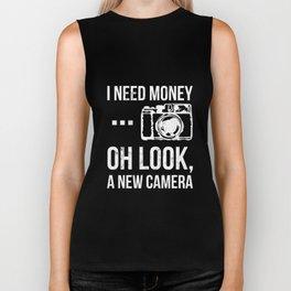 Oh Look A New Camera Photography Gear Tshirt Biker Tank