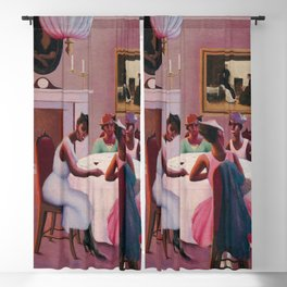 """1926 African American Masterpiece """"Cocktails"""" by Archibald Motley Blackout Curtain"""