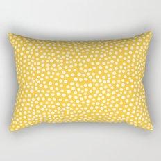 DOT PATTERN - yellow and white Rectangular Pillow