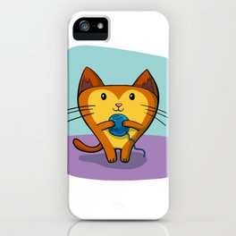 A Kitten that loves Sewing iPhone Case