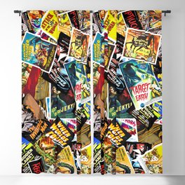 50s Movie Poster Collage #14 Blackout Curtain