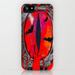 Red  Hells Gate Portal Blood & Bats iPhone Case