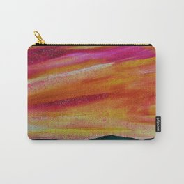 Peach Skyscape Carry-All Pouch