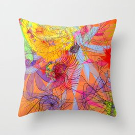 Orange logic Throw Pillow