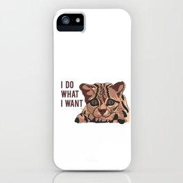 cat quote iPhone Case