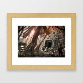 Lost Temple Framed Art Print