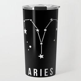 Aries Zodiac Sign Quote Travel Mug