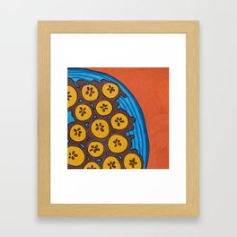 fried plantains Framed Art Print
