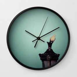 Bird on a Lamppost Wall Clock