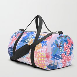 Trendy abstract fashion pattern in spotty shabby design Duffle Bag