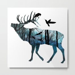 Forest Spirit - Blues Metal Print