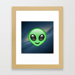 Alien Emoji Framed Art Print