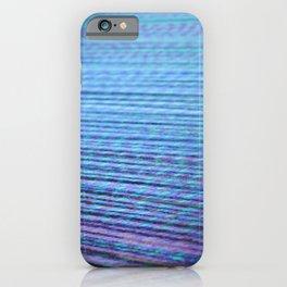 Blue purple warp iPhone Case