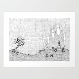 Ghosts Rising Art Print