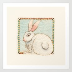 Snowy Rabbit Art Print