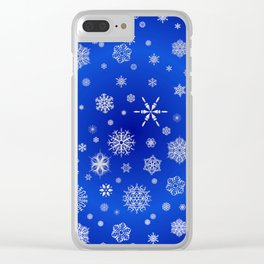 Snow in the Winter Night Clear iPhone Case