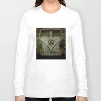 vw bus Long Sleeve T-shirts featuring VW Zombiemobile - A killer Zombie bus by Bruce Stanfield
