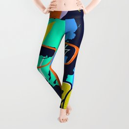 HIPSTER LINCOLN POP ART Leggings