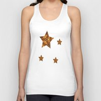 glee Tank Tops featuring Christmas Goes Gold by Louisa Catharine Art And Patterns