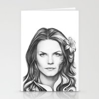 house md Stationery Cards featuring Dr. Cameron-House MD-Jennifer Morrison-Portrait by Olechka