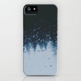 Blue Rain iPhone Case