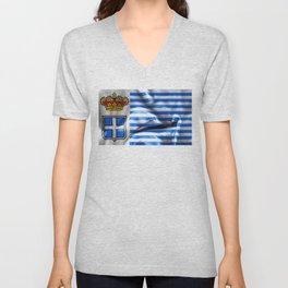 Seborga Flag Unisex V-Neck