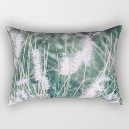 Blue Fountain Grass Plant Rectangular Pillow