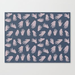 Hands Pattern Canvas Print