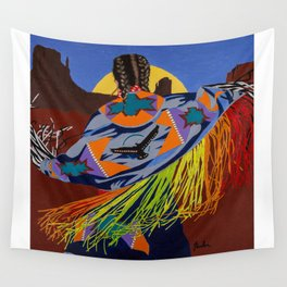 Shaw Dancer #3 Square Wall Tapestry