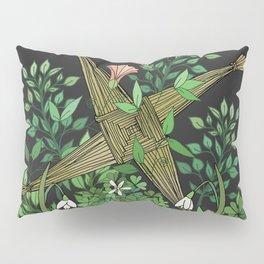 Saint Brigid's Cross in the Celtic Spring Pillow Sham
